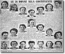 Immagine che ritrae le madri costituenti